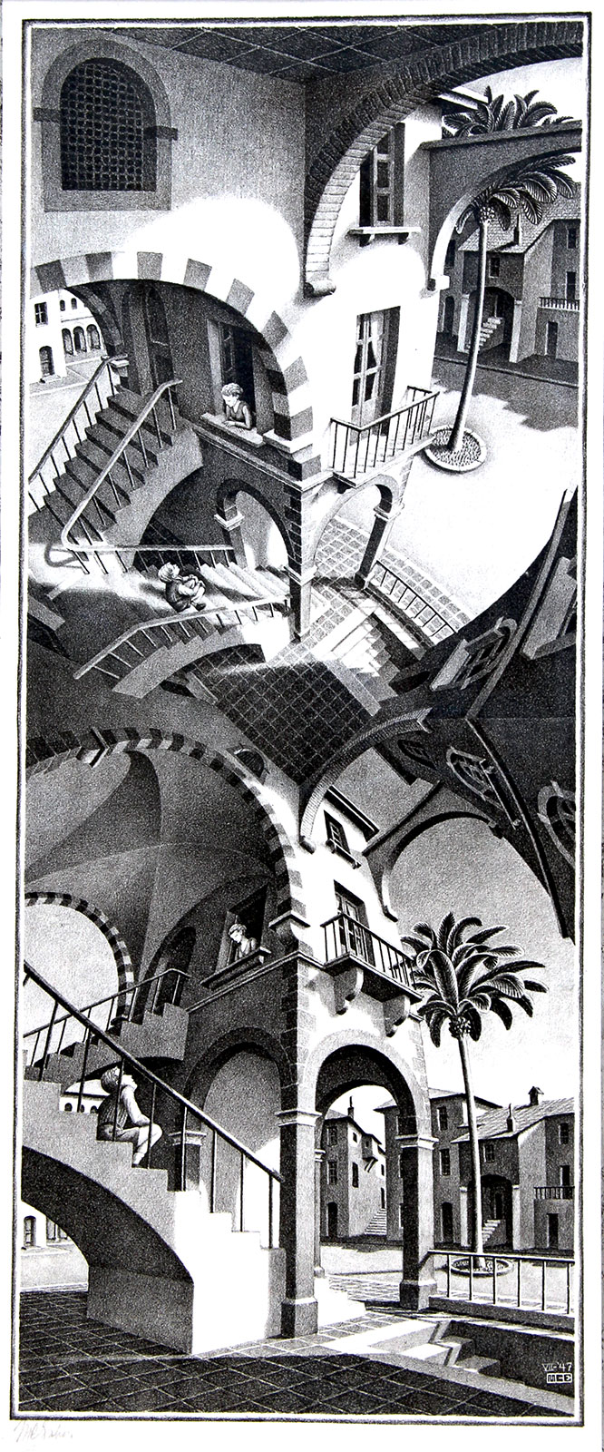 Boven en Onder /Up and Down- Maurits Cornelis Escher