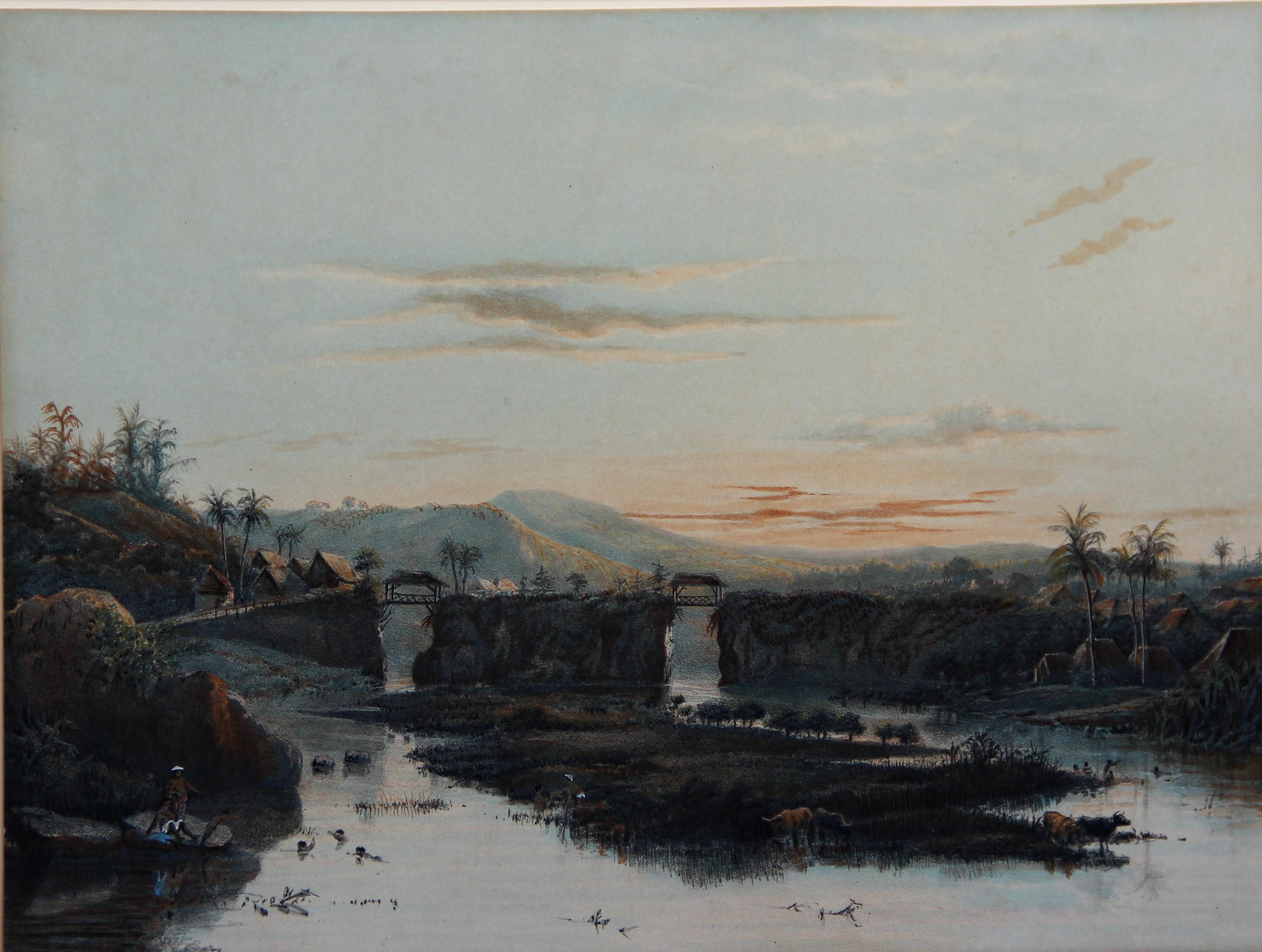 Java, landschap in de Bataviasche ommelande- Abraham (Ab) Salm