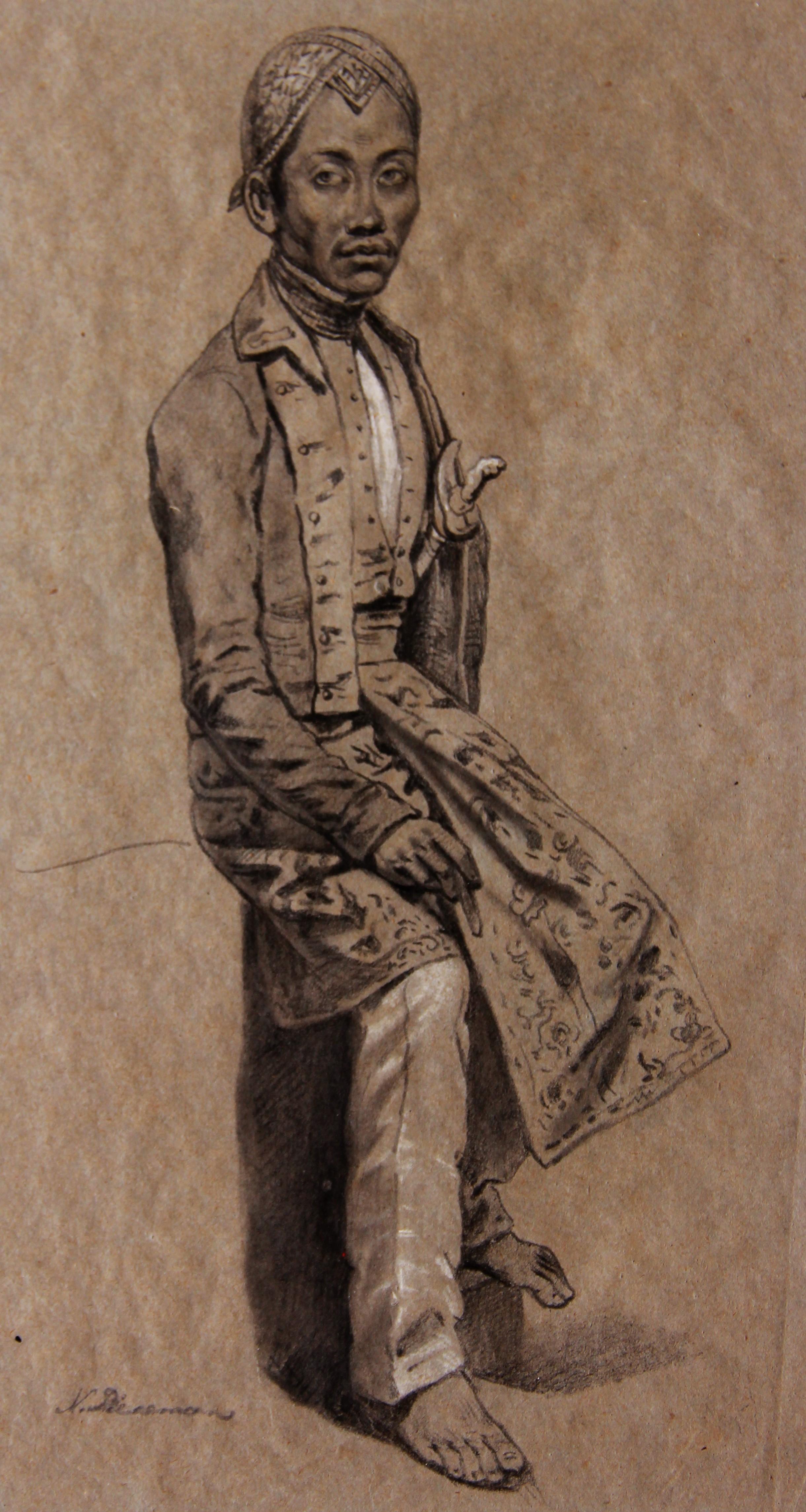 Portret van een Javaanse prins- Nicolaas Pieneman