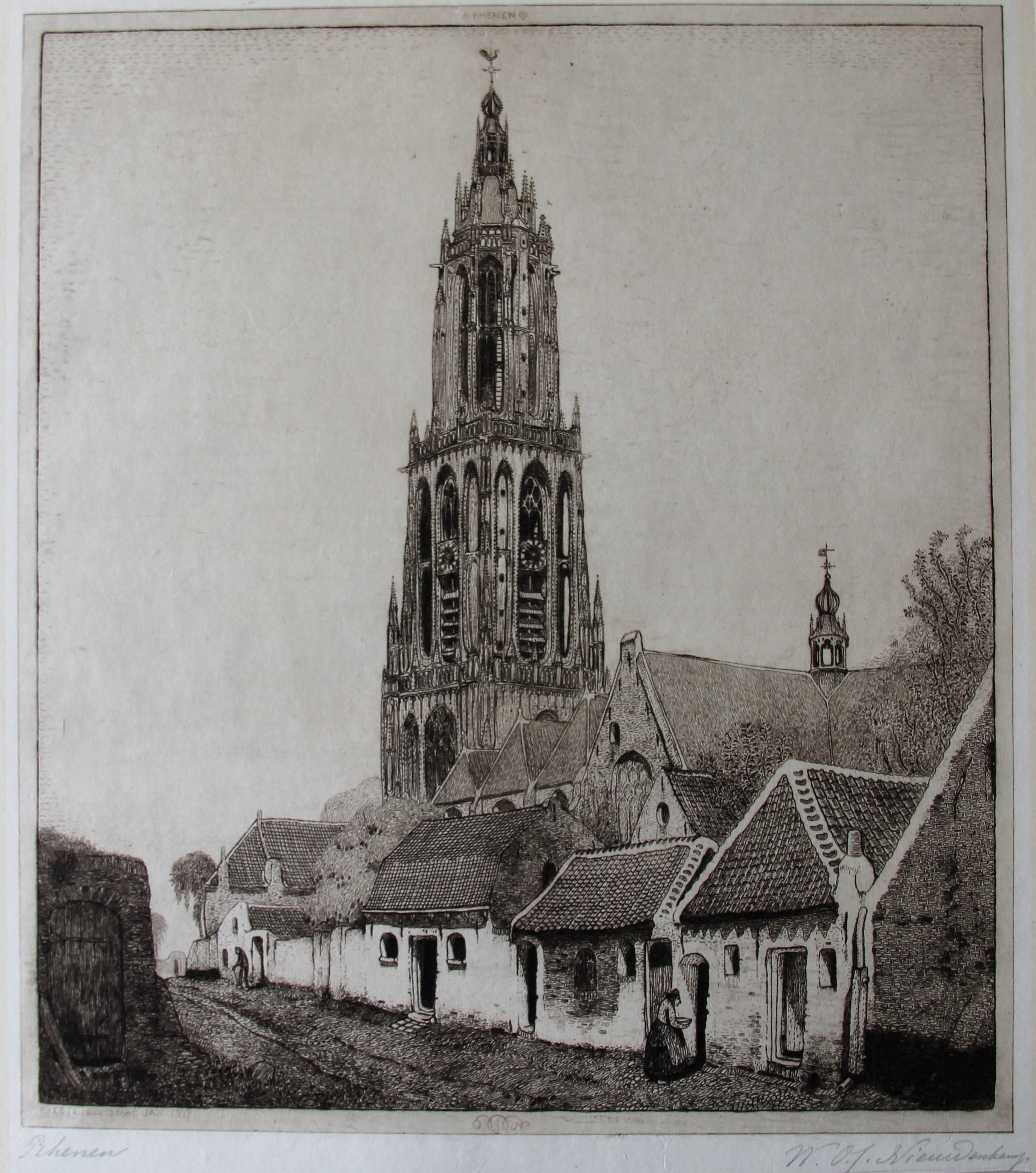 Gezicht op Rhenen- W.O.J. Nieuwenkamp