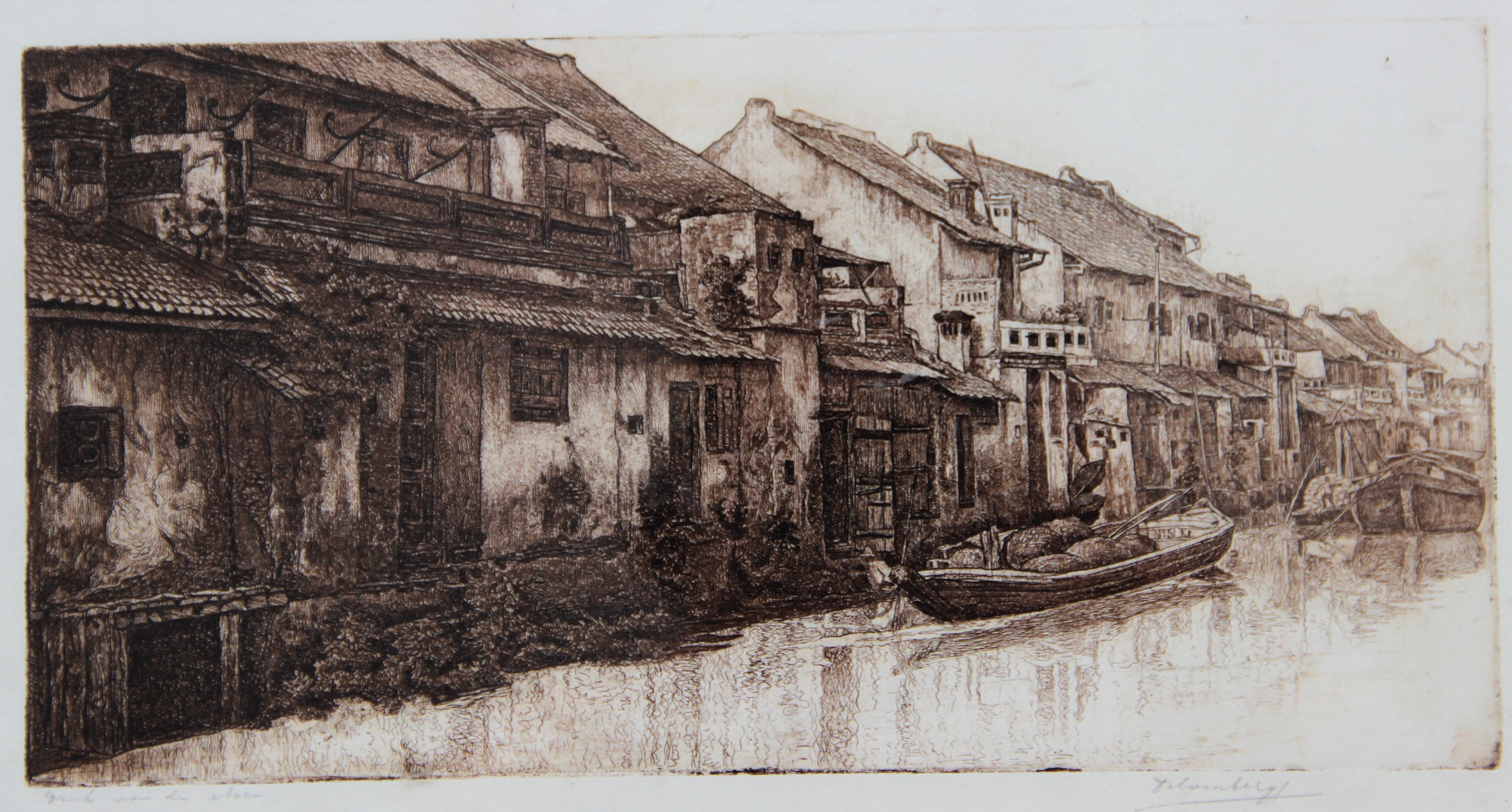 Kanaal in Batavia ( proefdruk)- Dirk Homberg