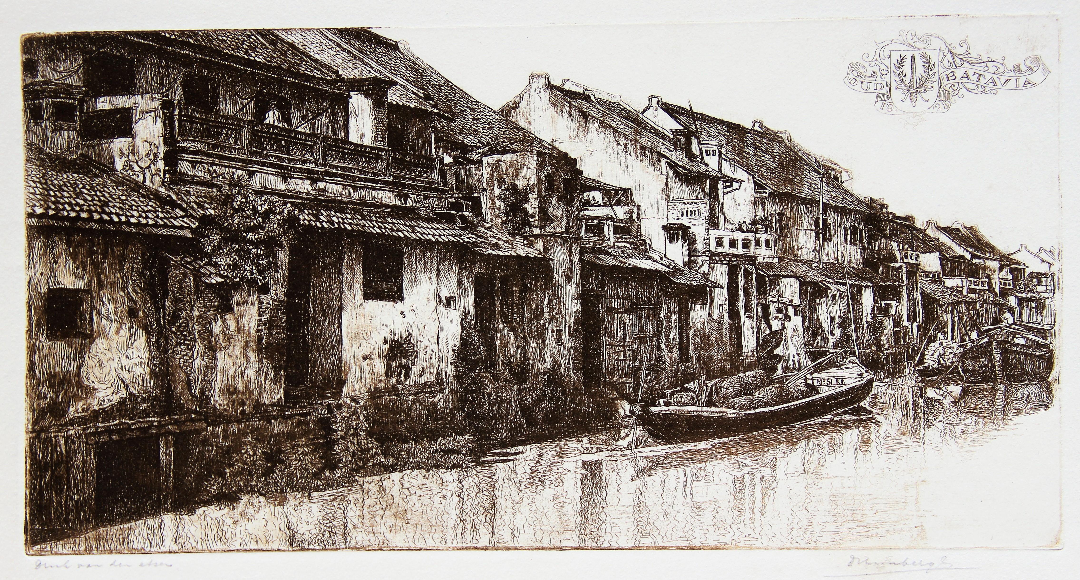 Batavia, Chinese huizen langs het water- Dirk Homberg