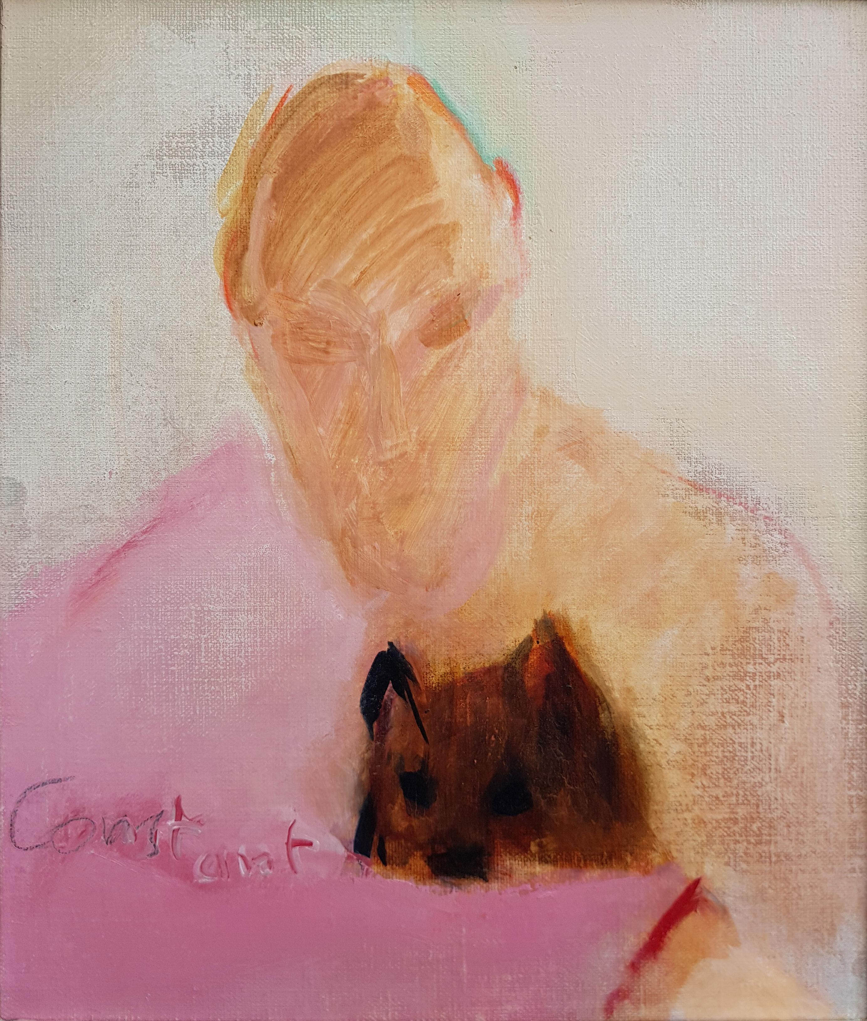 Zelfportret met hond- Constant (Amsterdam, 21 juli 1920 – Utrecht, 1 augustus 2005) Constant Anton Nieuwenhuijs