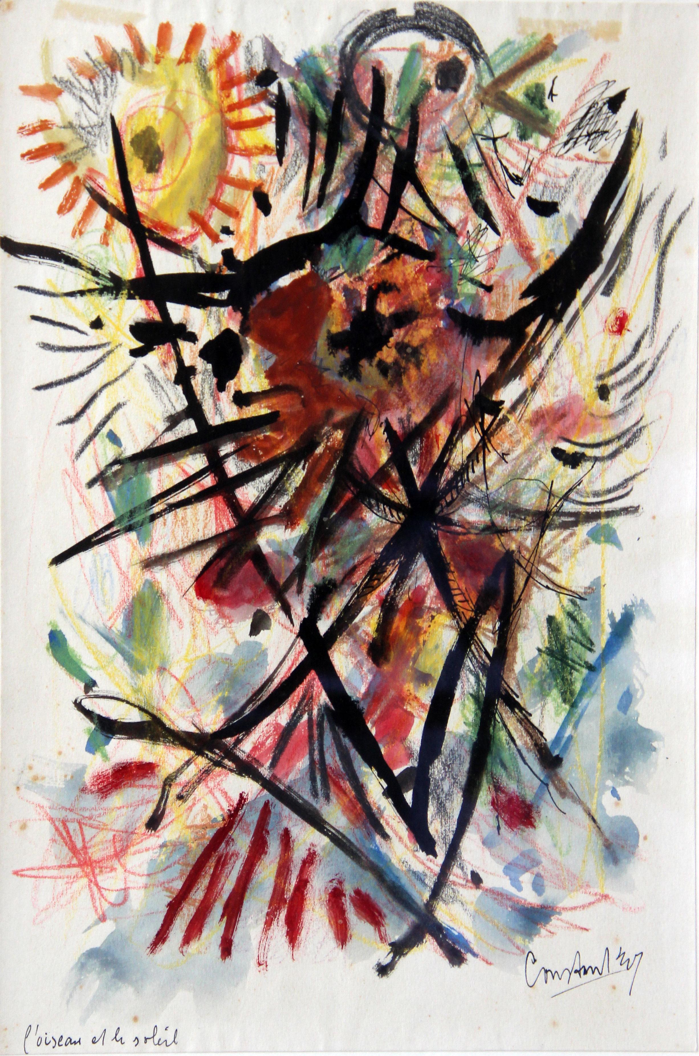 L'oiseau et le Soleil- Constant (Amsterdam, 21 juli 1920 – Utrecht, 1 augustus 2005) Constant Anton Nieuwenhuijs