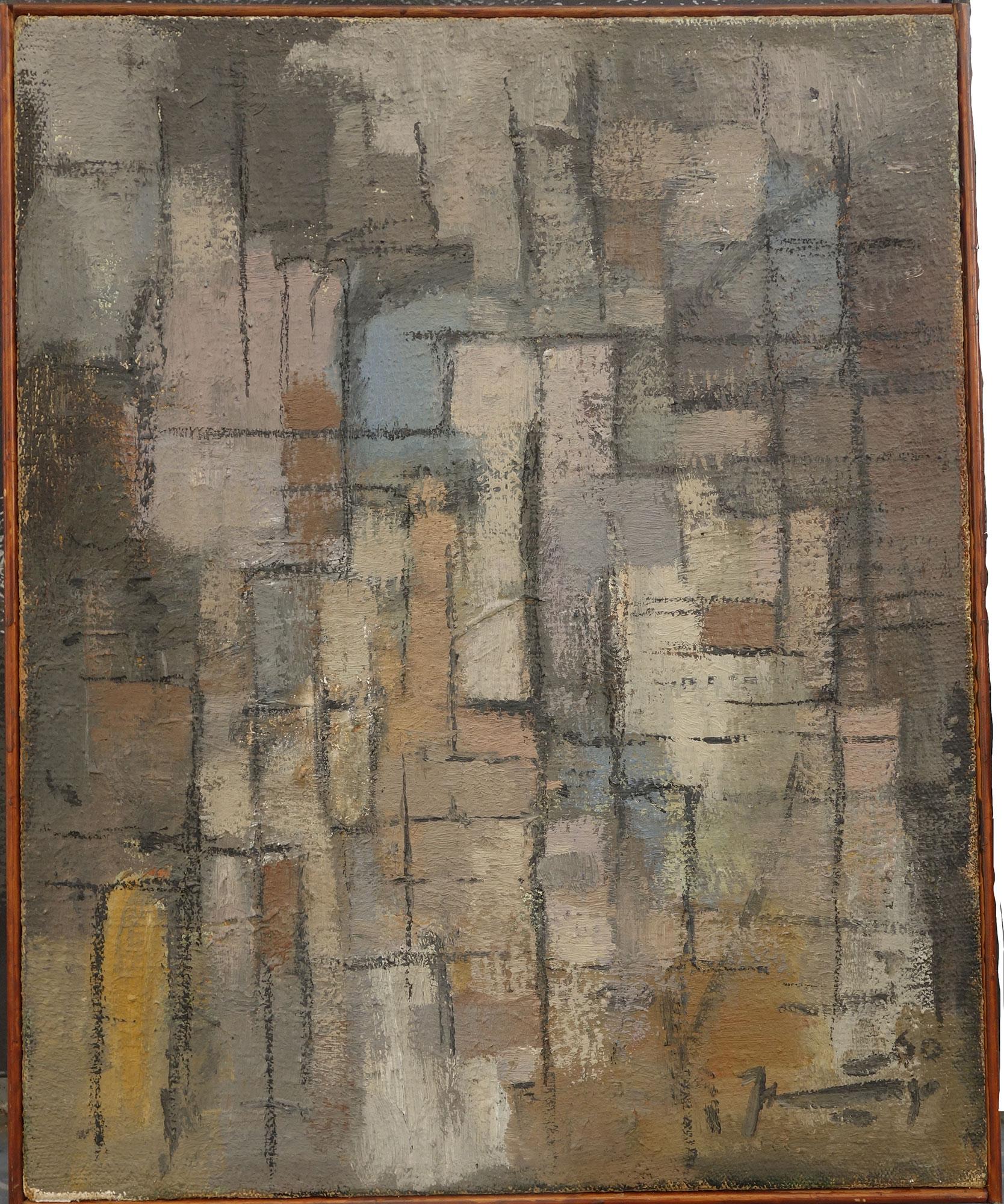 abstracte compositie 1960- Jaap Nanninga