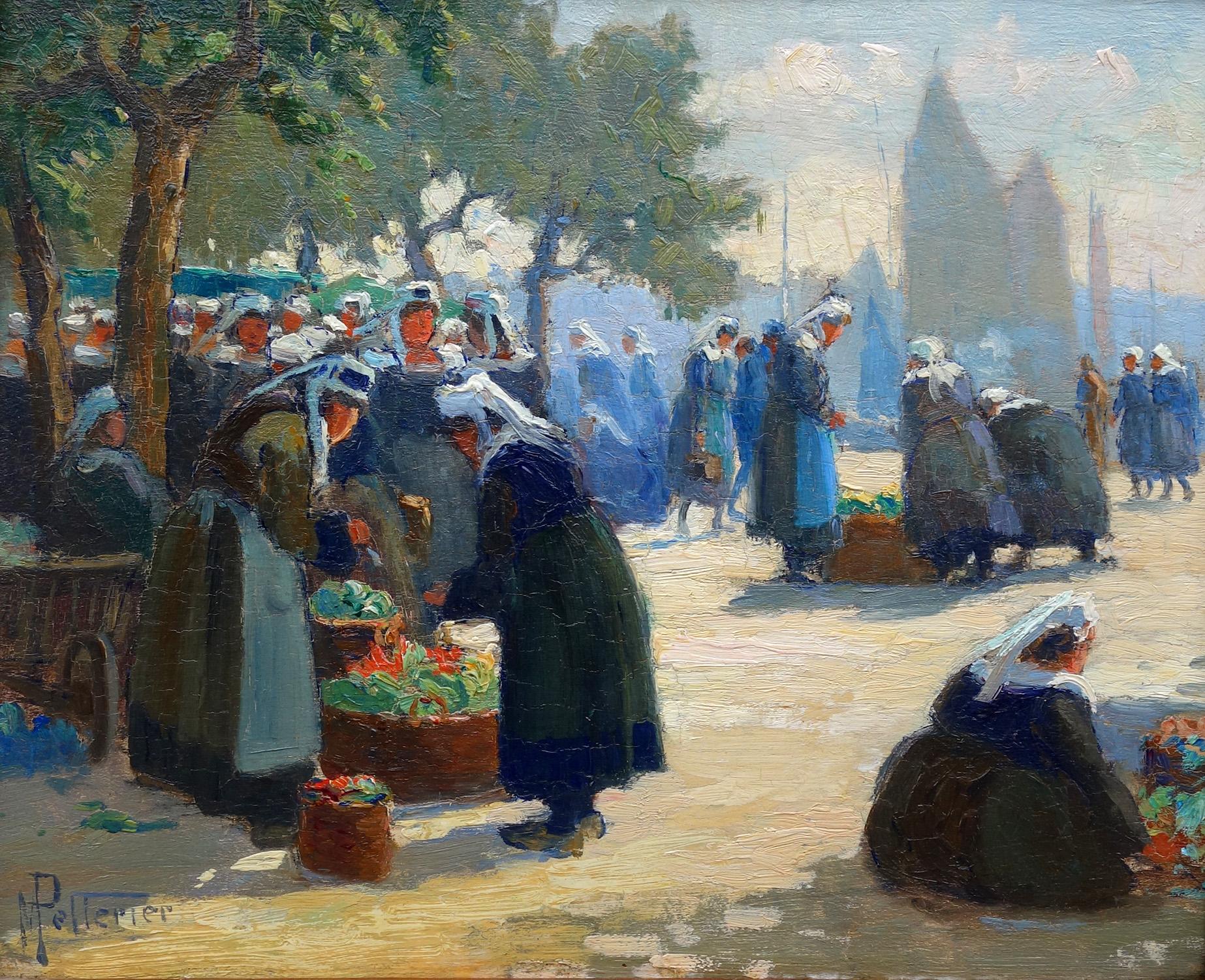 Markt in Concarneau, Bretagne- Maurice Pellerier
