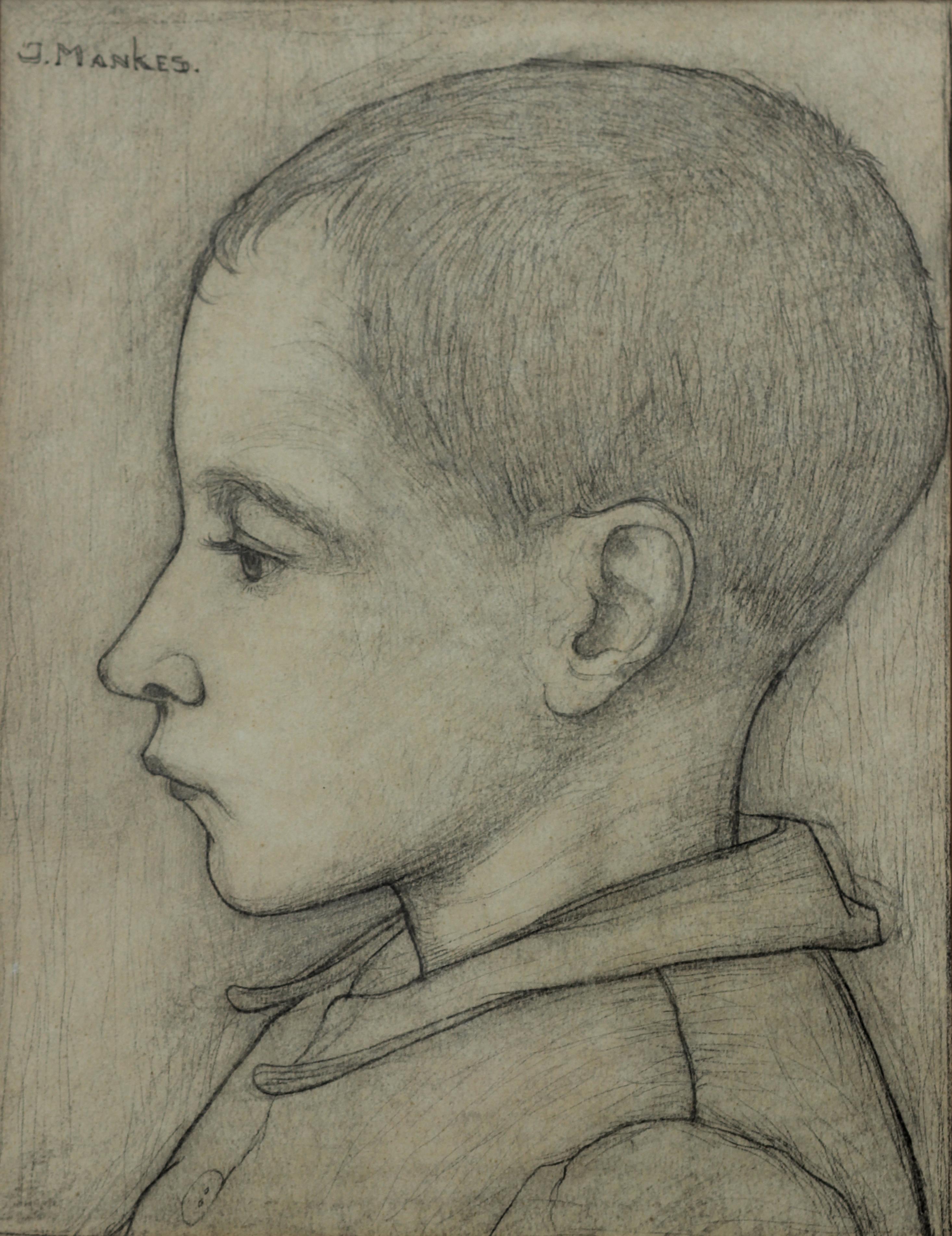 Jongetje en profile- Jan Mankes