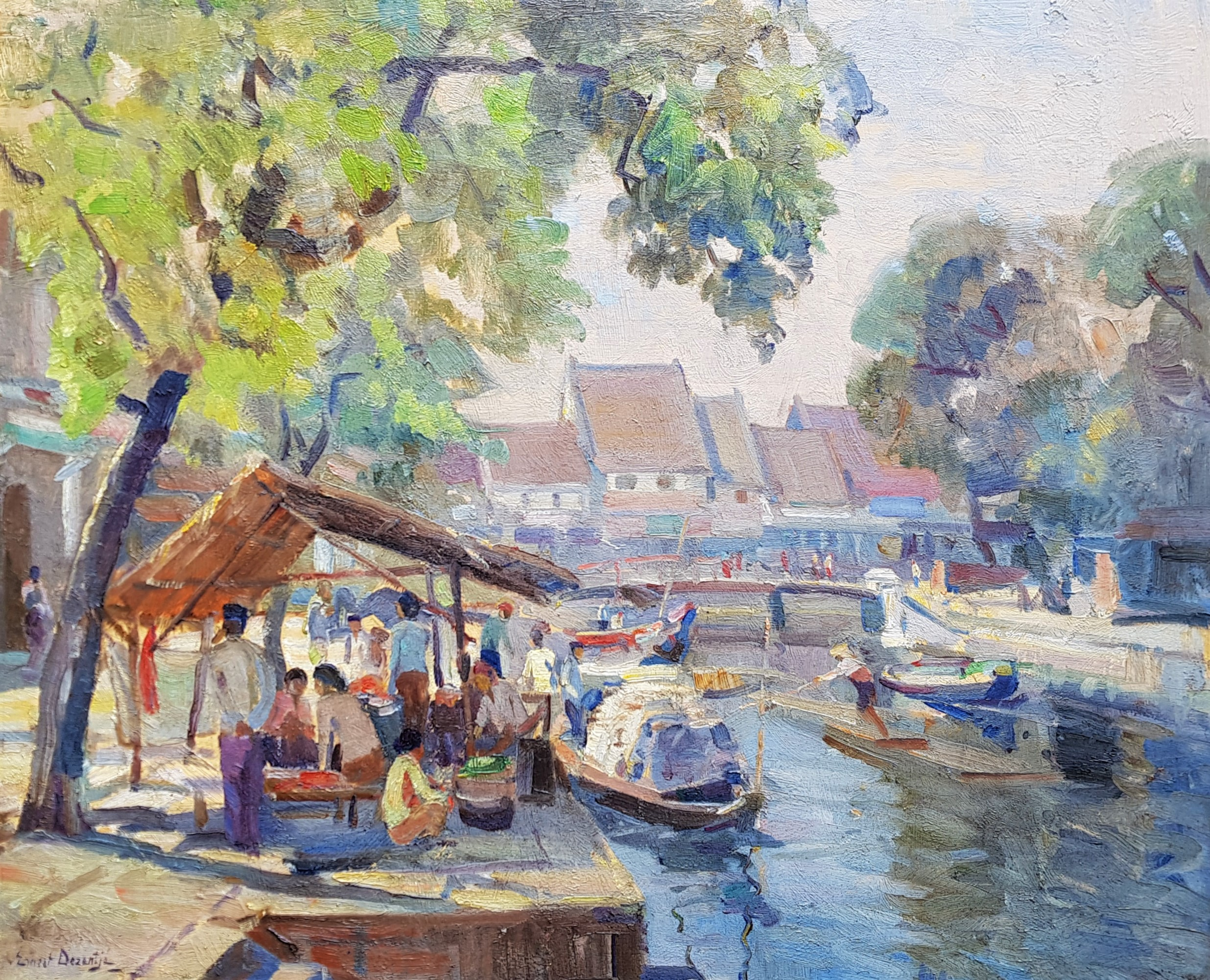 Pasar in Batavia- Ernest Dezentjé