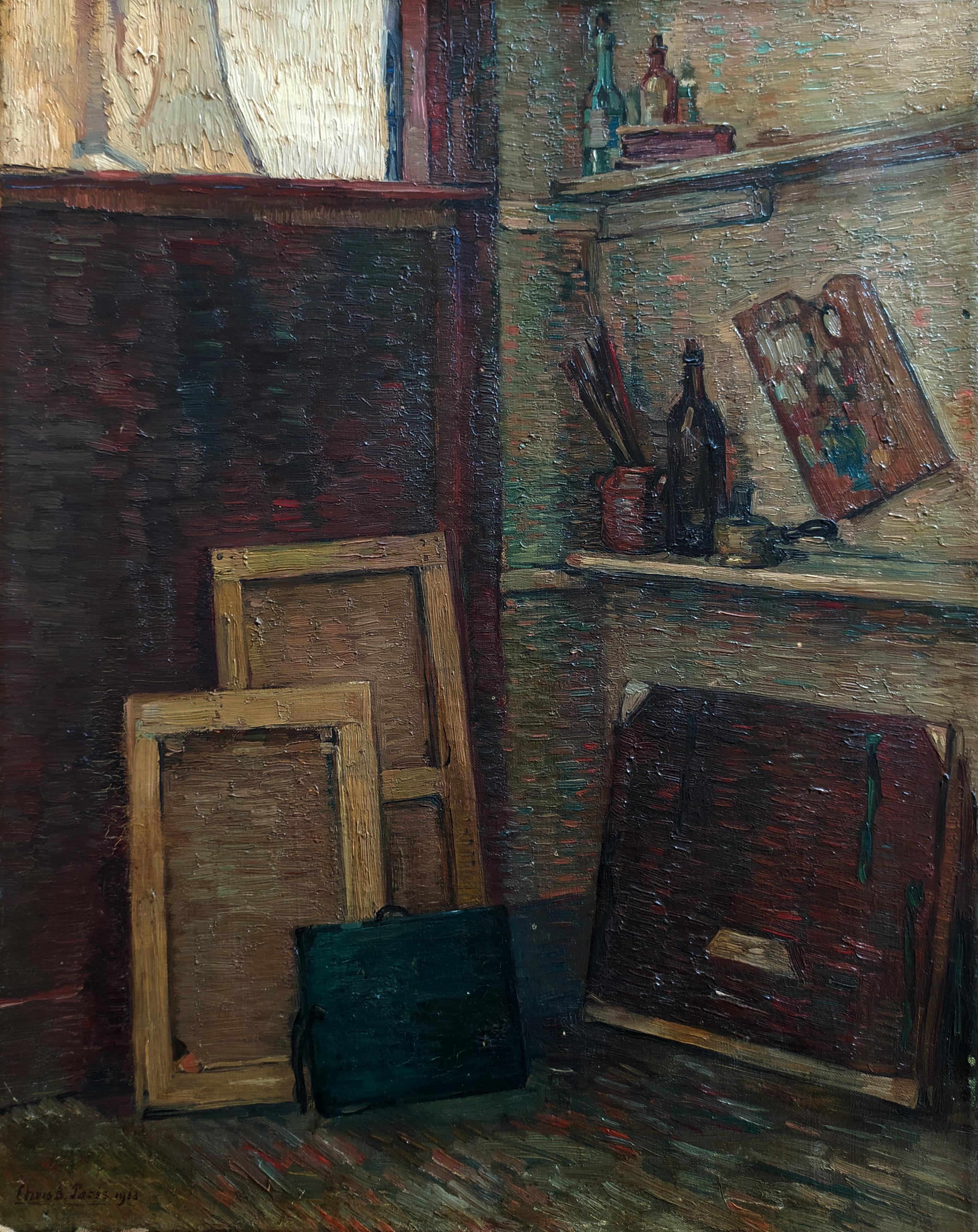Chris Beekman, atelier in Parijs 1913- Chris Beekman