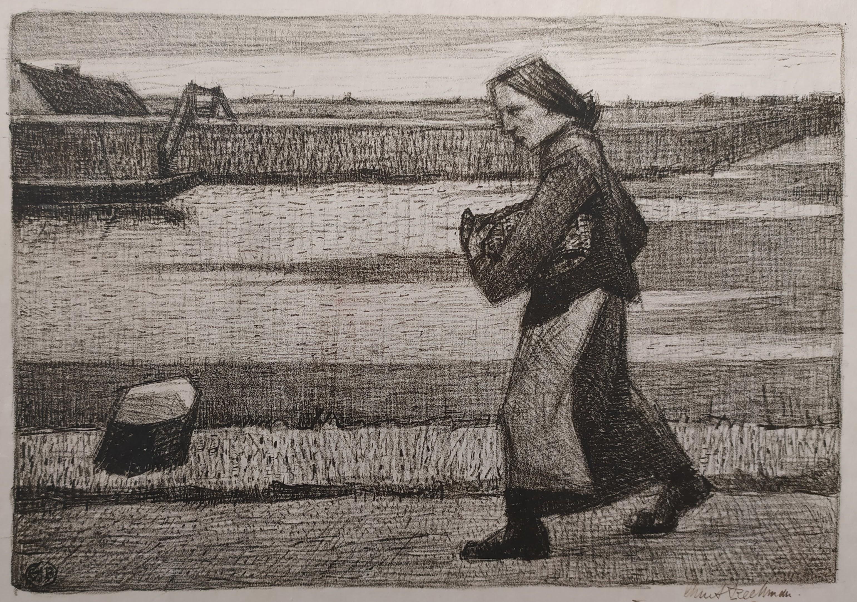 Vrouw op een jaagpad- Chris Beekman