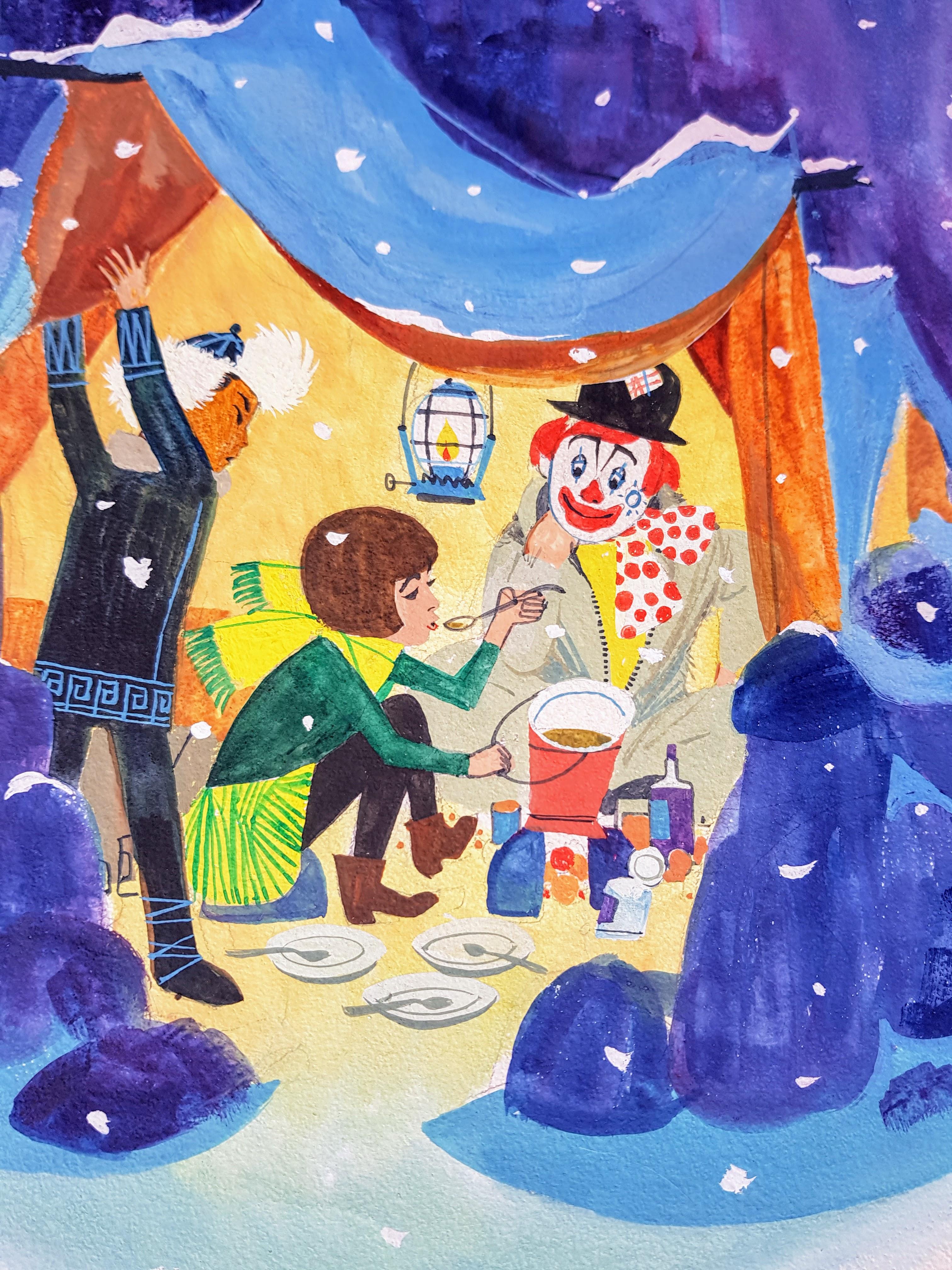 Pipo de Clown schuilt in een grot- Jan Wesseling