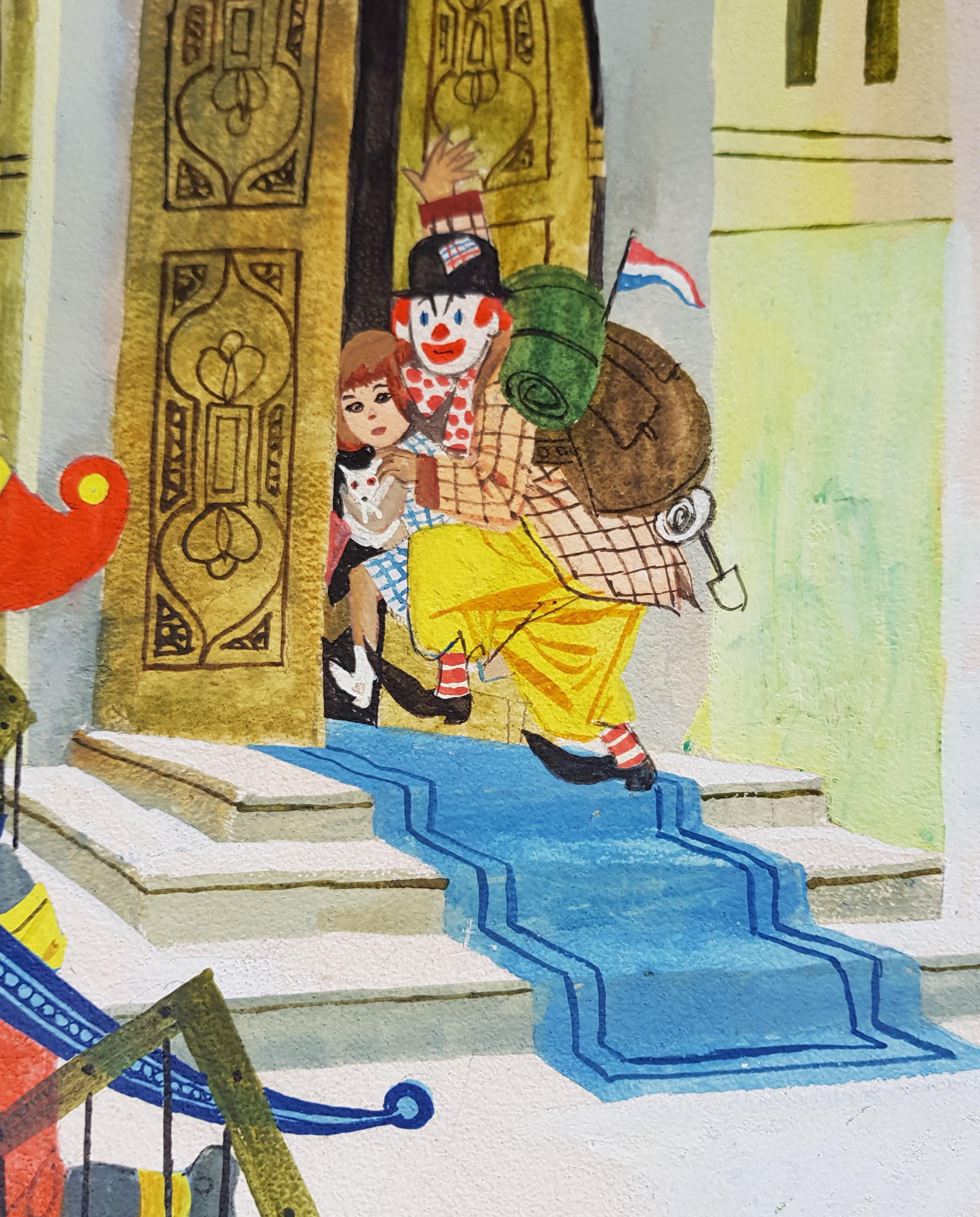 Pipo de Clown ontsnapt aan de bewaker- Jan Wesseling
