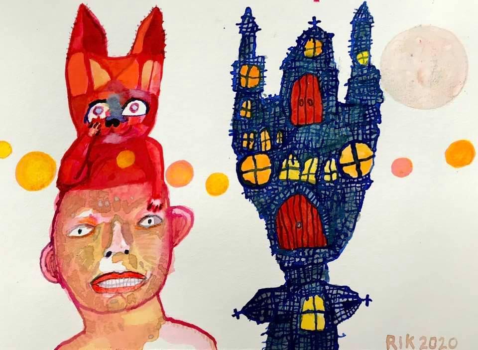 Rik van Iersel Corona Dagboek: Heerlijk Sculpturaaltje van me- Rik van Iersel