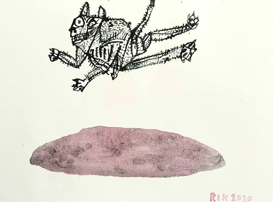 Rik van Iersel Corona Dagboek: Kat als Angsthaas- Rik van Iersel