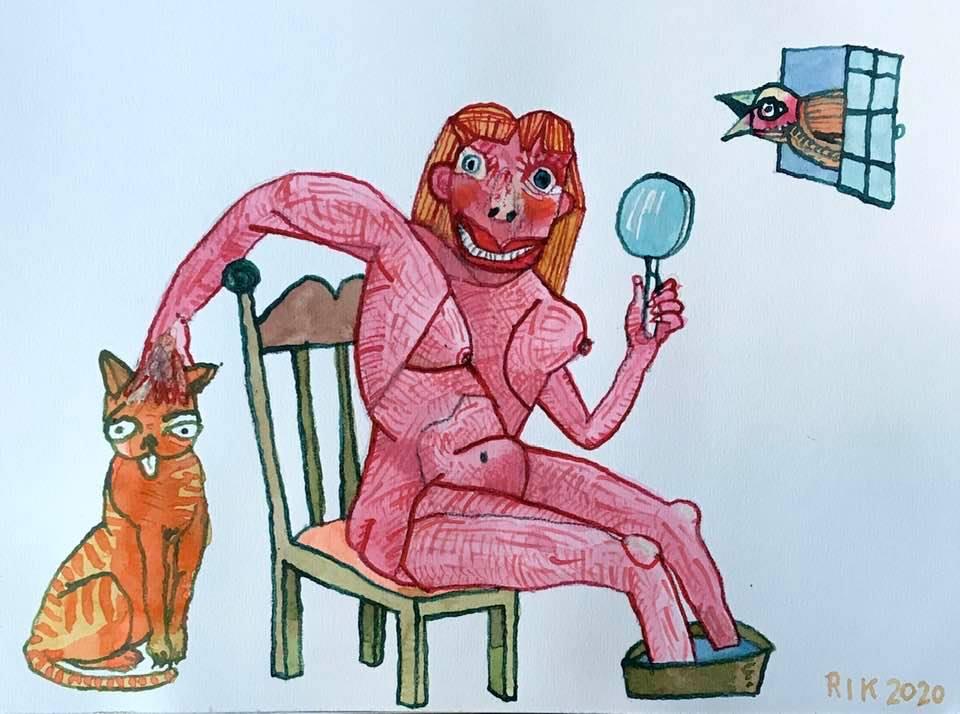 Rik van Iersel Corona Dagboek: Spik und Spam jetzt die Katze nog- Rik van Iersel