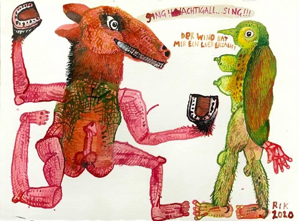 Rik van Iersel Corona Dagboek: Sing nachtigall sing- Rik van Iersel