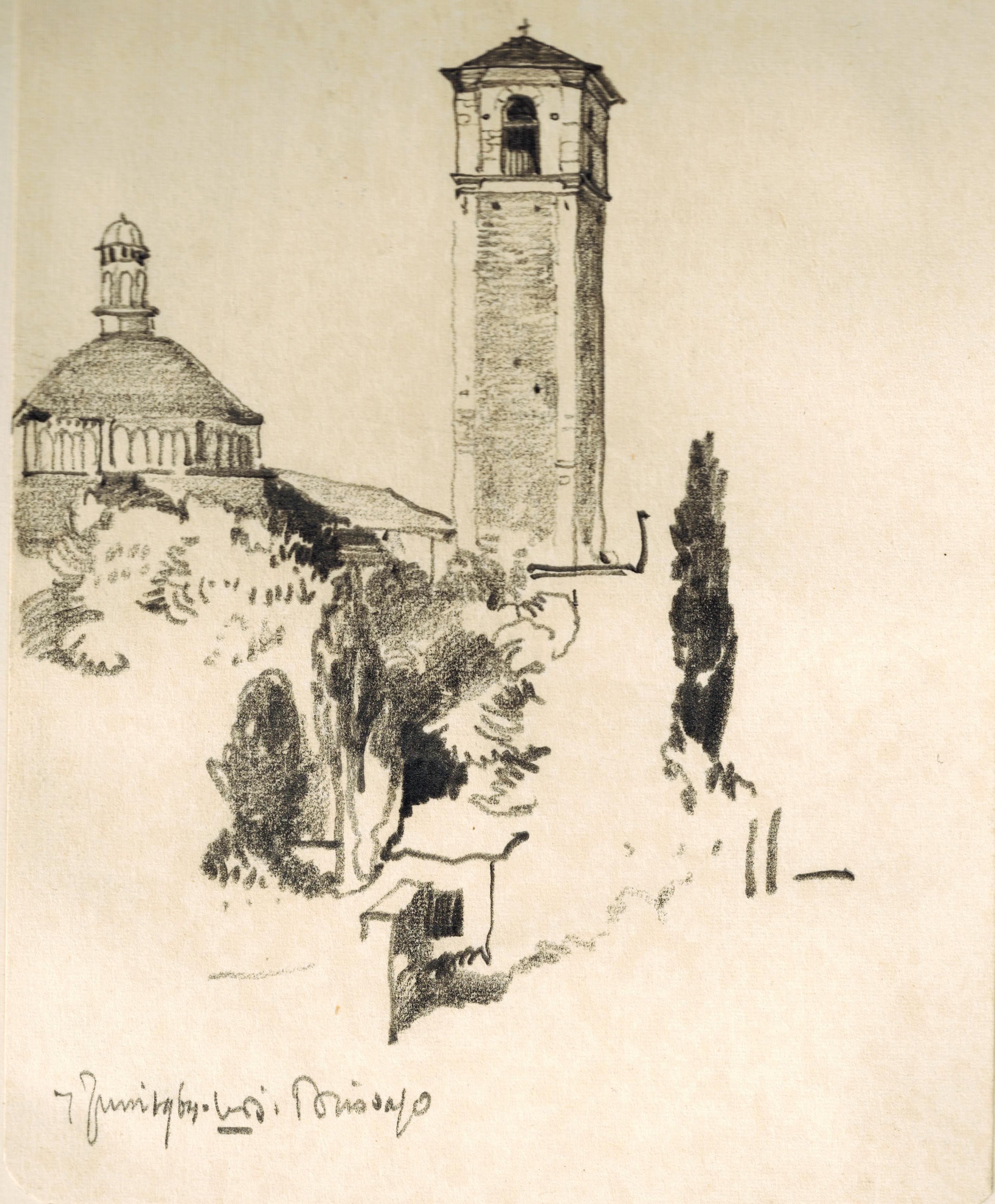 Brissago Tower and monument Lago Maggiore Ticino Switzerland- Willem van den Berg