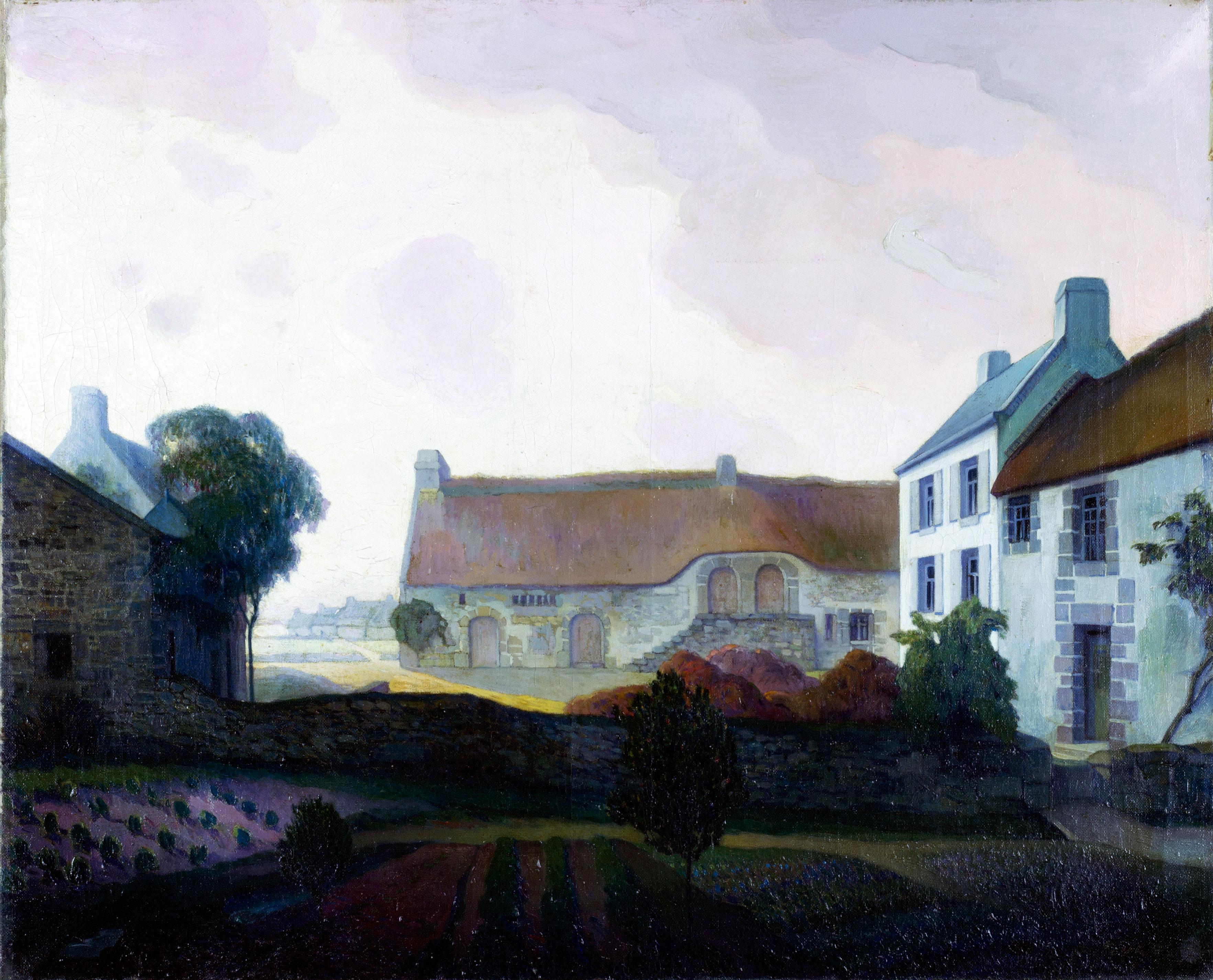 Landschap met boerderijen- Georges de Feure