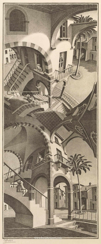 Boven en onder / up and down- Maurits Cornelis Escher