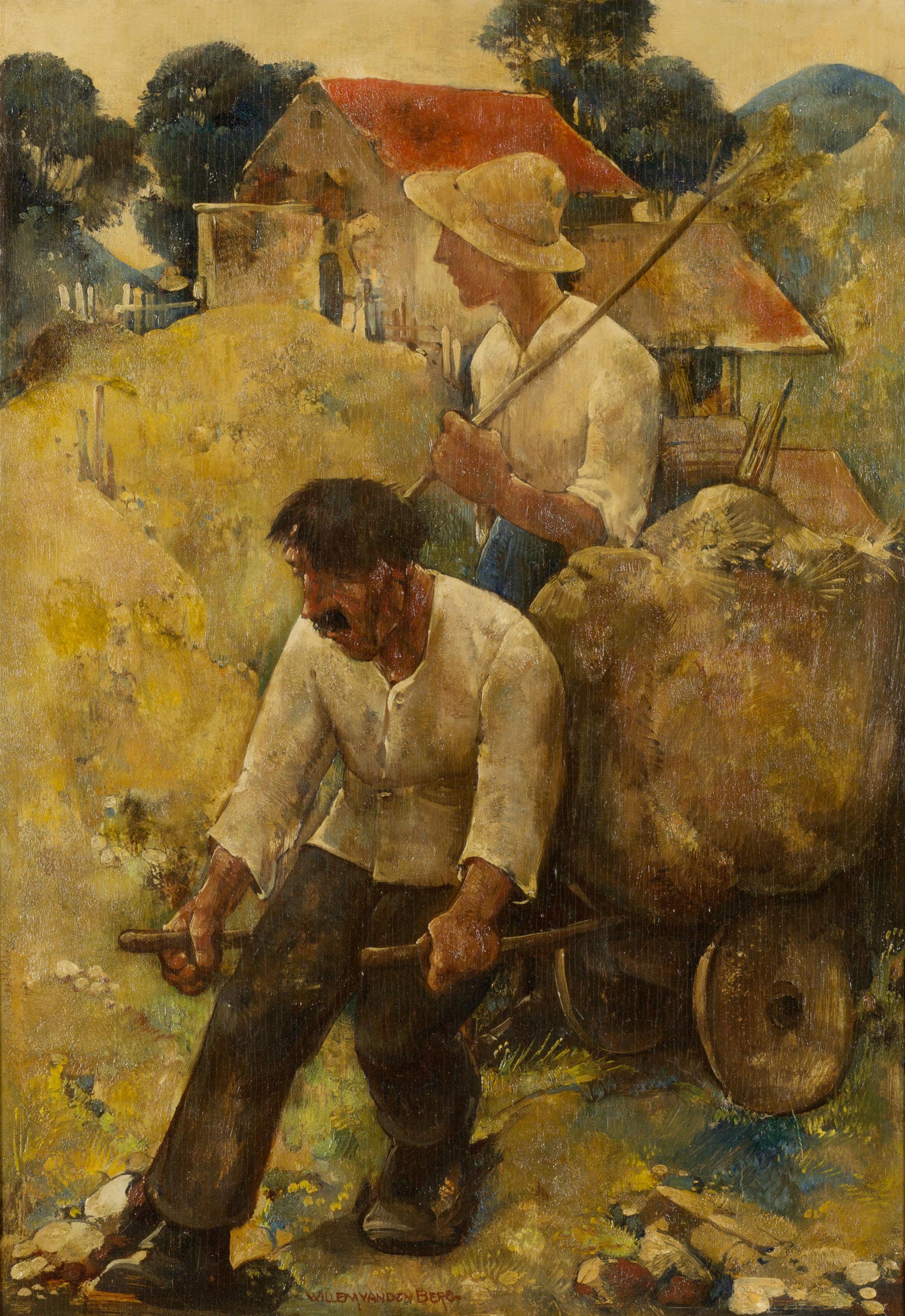 Graubünder boeren- Willem van den Berg