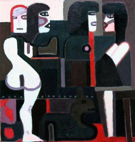 Vier vrouwen en Bertik- Ed Dukkers
