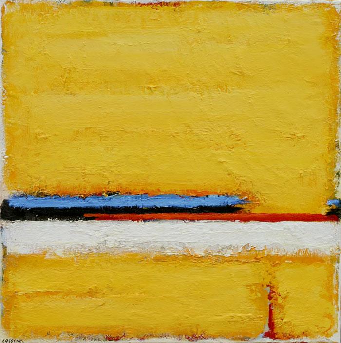 Landschap in geel- Henk Lassche