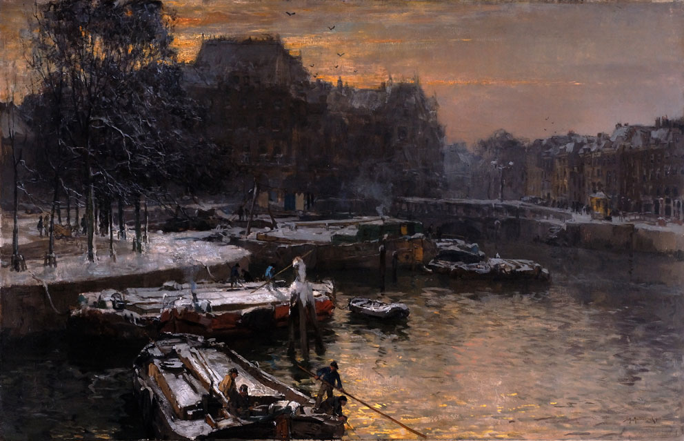 Wintermiddag 1906- Johan Hendrik van Mastenbroek