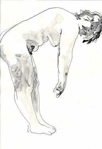 Naakt voorover gebogen- Sam Drukker