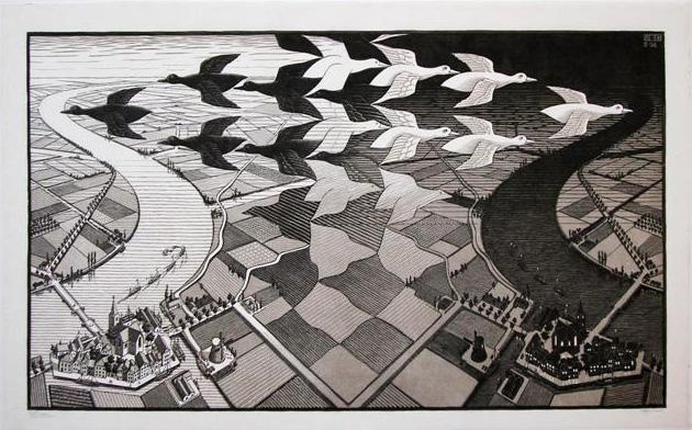 Dag en Nacht  /  Day and Night- Maurits Cornelis Escher