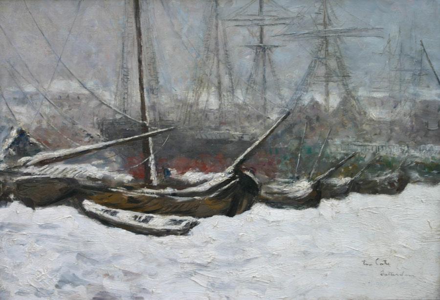 Winters gezicht op de haven van Rotterdam- Siebe Johannes ten Cate