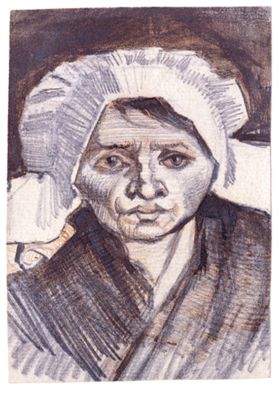 Boerin met witte kap- Vincent van Gogh
