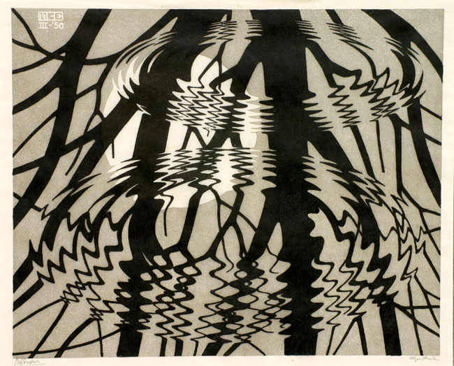 Rimpeling  /  Rippled Surface- Maurits Cornelis Escher