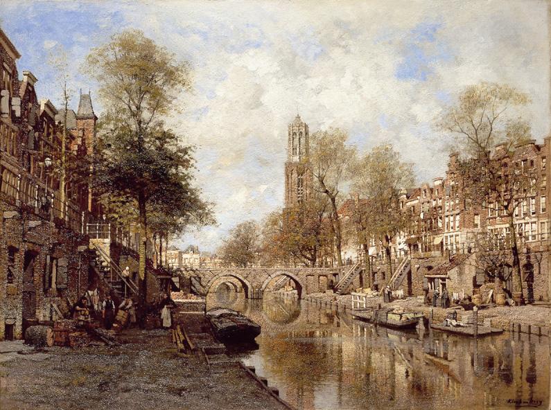 Utrecht, gezicht op de Oudegracht- J.C.K. Klinkenberg