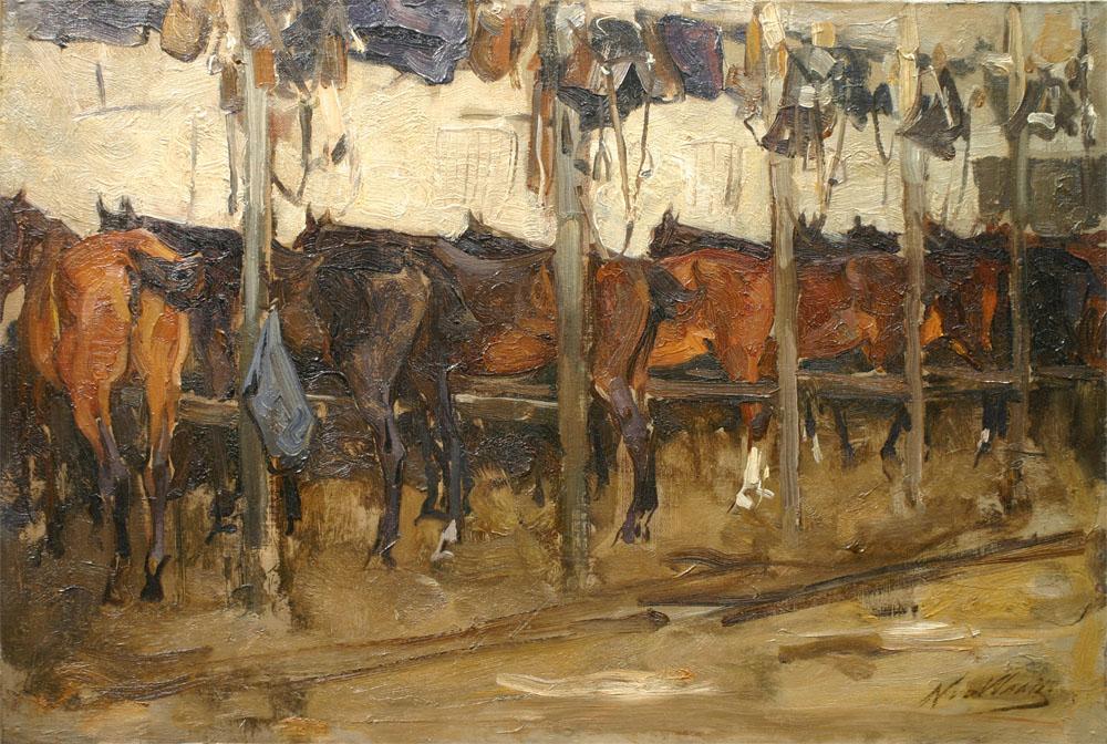 Paardenstal- Nicolaas  van der Waay