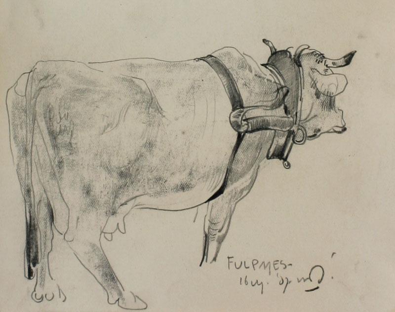 Koe in Fulpmes- Willem van den Berg