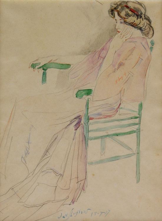 Meisje in stoel- Jan Sluijters