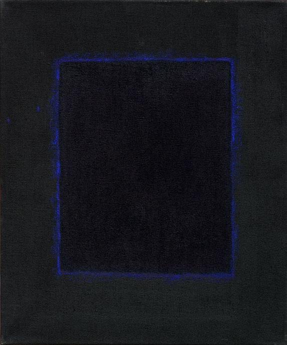 Blauw in Zwart Kader- Ton Frenken