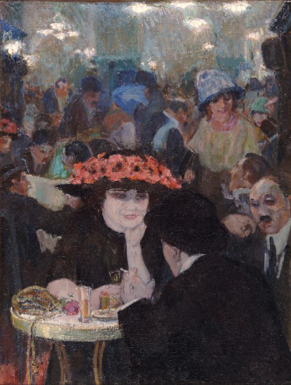 Cafe scene- Leo Gestel