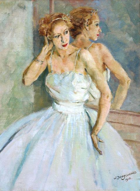 Ballet danseres voor een spiegel- Willem Dooijewaard
