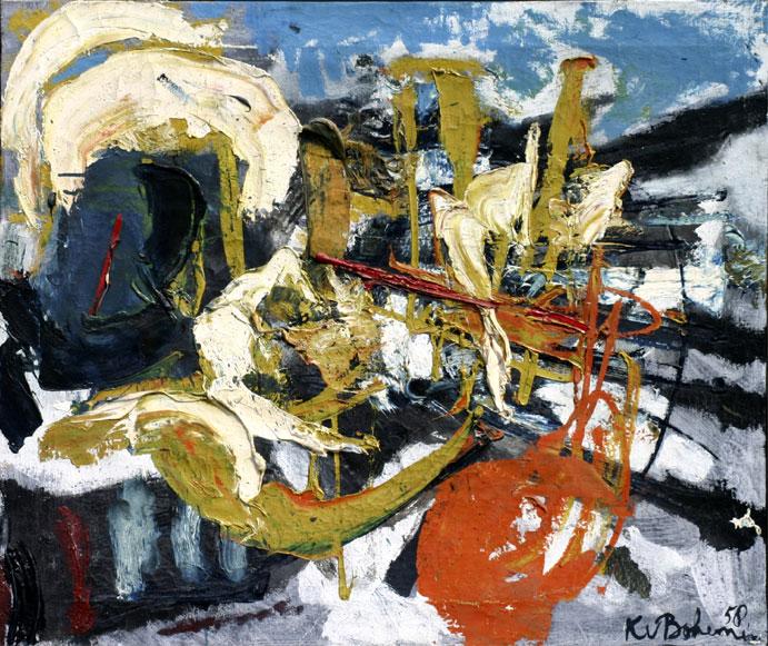 abstracte compositie- Kees van Bohemen