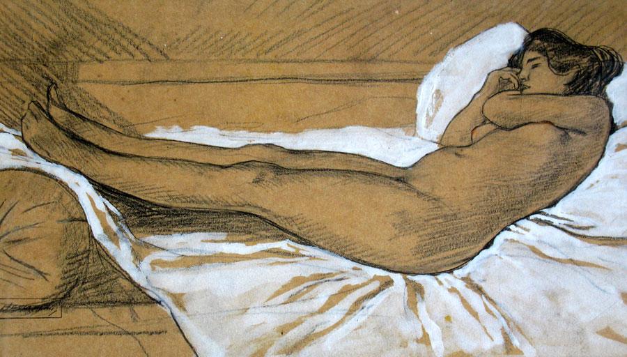 liggend naakt- Hendrik Johannes Haverman