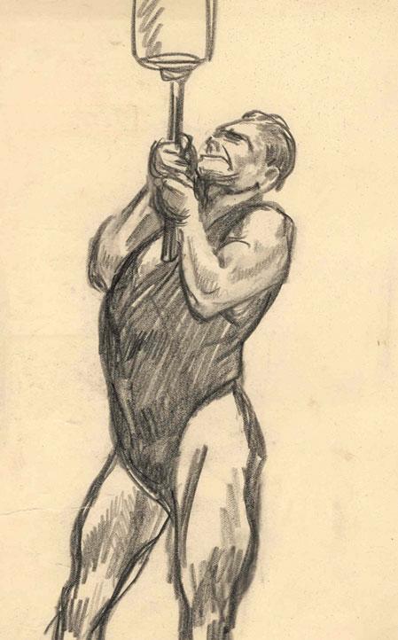 Sterke man in het circus- Willy Sluiter
