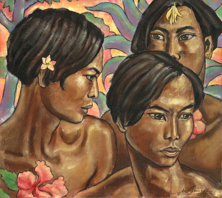 Balinese young men- Auke Sonnega