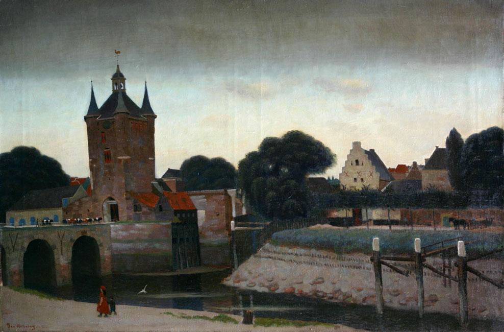 Zierikzee, stadspoort en aanzicht van de stad Zierikzee- Jan Wittenberg