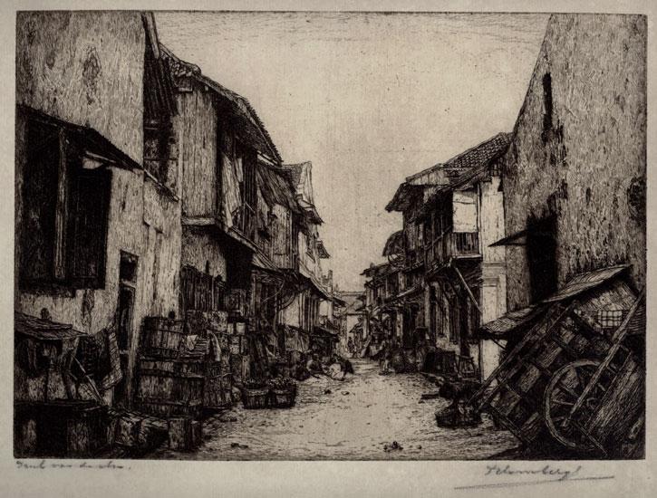 Straatje in Batavia- Dirk Homberg