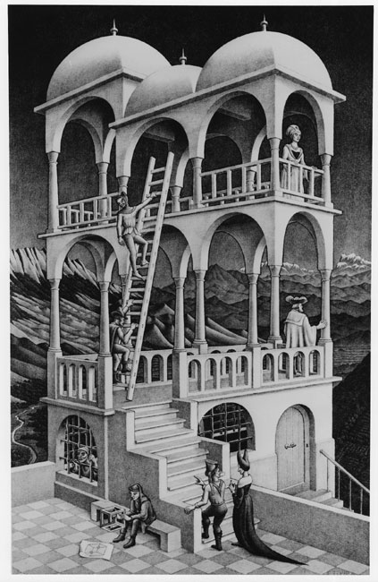 Belvedere- Maurits Cornelis Escher