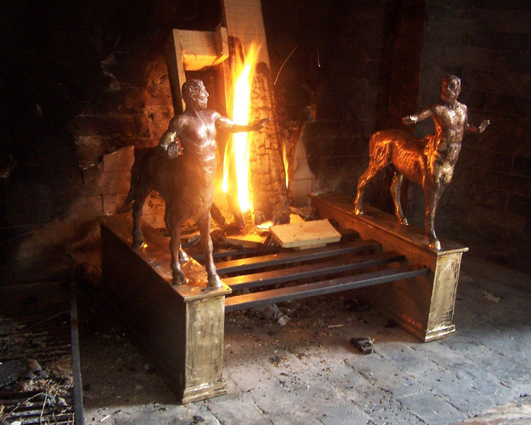 Fireplace with centaurs- Pawel Kromholz