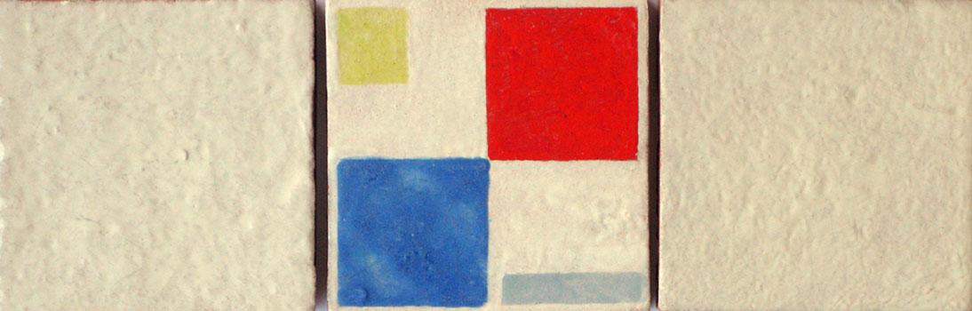 abstracte compositie met drie tegels- Bart van der Leck