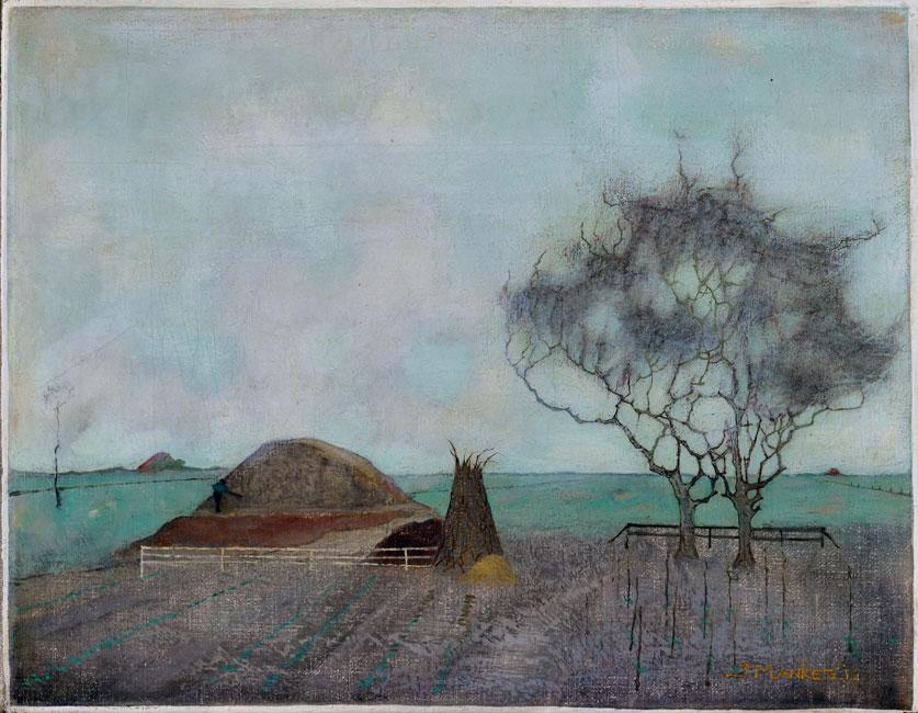 Landschap met kleihoop: gezicht in de Knipe- Jan Mankes