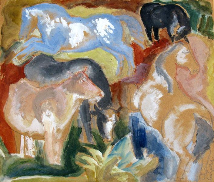 Het blauwe paard- Leo Gestel
